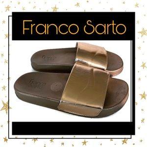 Franco Sarto Gold Slide Sandals 6